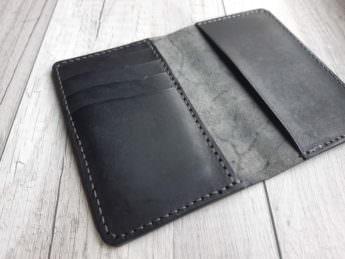 Обложка для документов из натуральной кожи - цвет Black