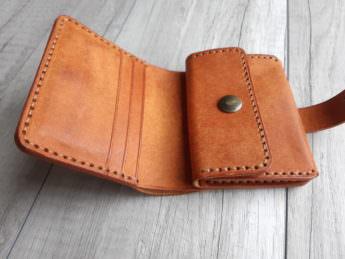 Портмоне из натуральной кожи с монетницей Olmo 9x10,5 см
