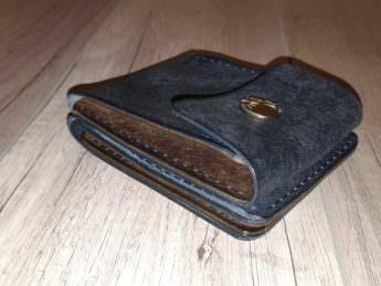 Бумажник из натуральной кожи с монетницей Petrolio 12х9,5 см