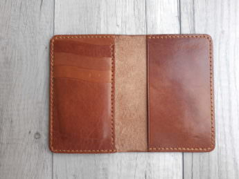 Обложка для документов из натуральной кожи – цвет Brown