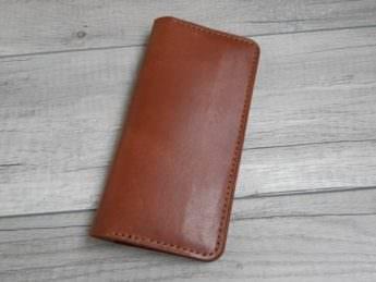 Портмоне из натуральной кожи Лонгер Brown 10,5х23 см